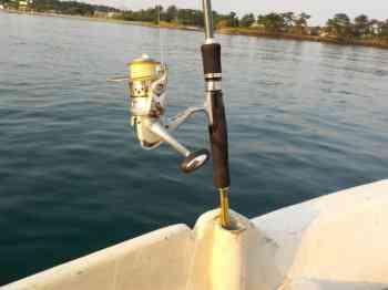 ボートでのチヌ釣り