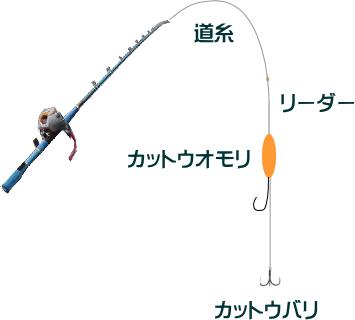 ショウサイフグのカットウ仕掛けと釣り方