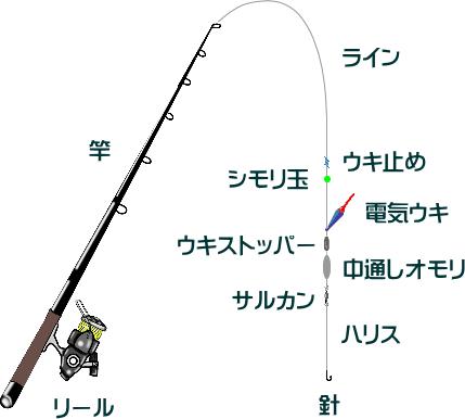 シーバスの電気ウキ釣りの仕掛けと釣り方